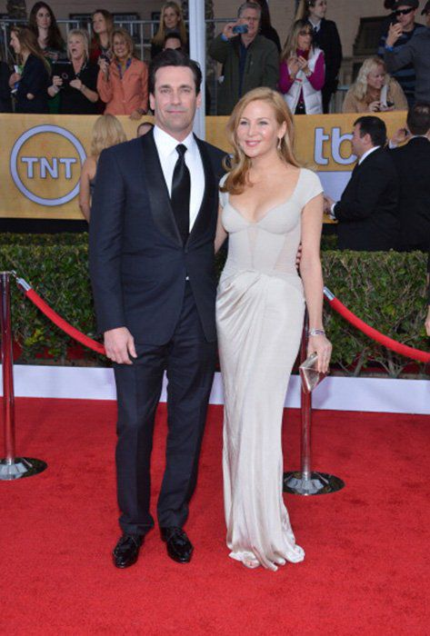 LOS ANGELES, CA - JANUARY 27:  Actors Jon Hamm (L) and Jennifer Westfeldt attend the 19th Annual Screen Actors Guild Awards at The Shrine Auditorium on January 27, 2013 in Los Angeles, California. (Photo by Larry Busacca/WireImage) 23116_018_1386.JPG