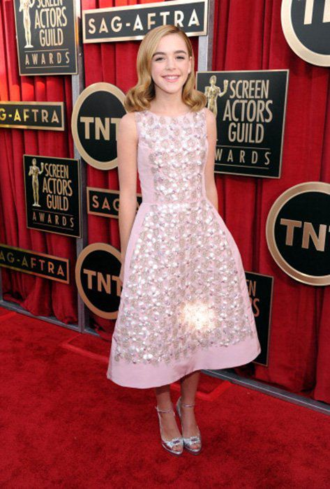 LOS ANGELES, CA - JANUARY 27: Actress Kiernan Shipka  attends the 19th Annual Screen Actors Guild Awards at The Shrine Auditorium on January 27, 2013 in Los Angeles, California. (Photo by Dimitrios Kambouris/WireImage) 23116_013_0574.jpg